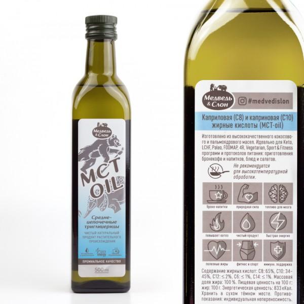 Масло со среднецепочечным триглицеридом MCT OIL 500 мл